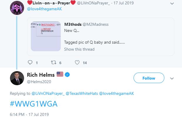 Rich Helms QAnon Twitter