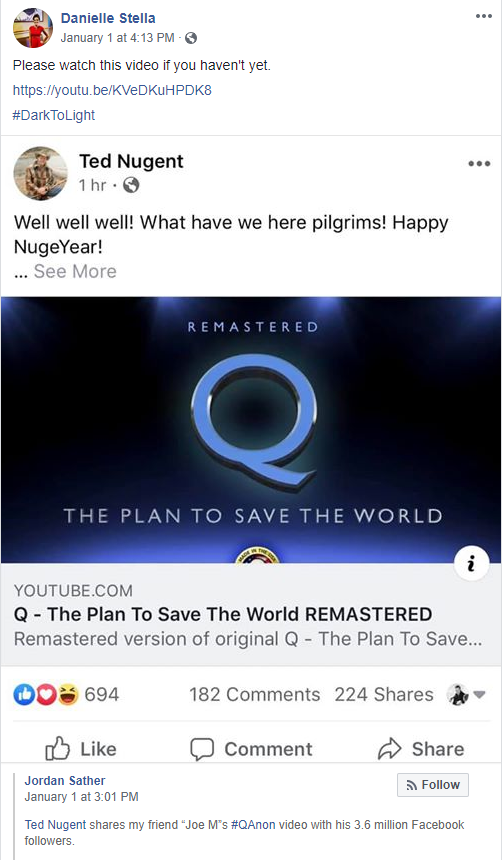 Stella Facebook QAnon video