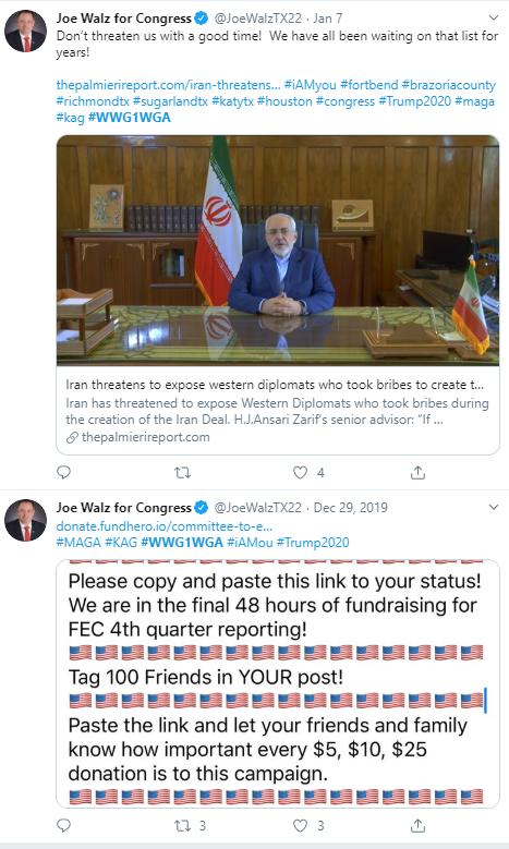 Joe Walz QAnon Twitter