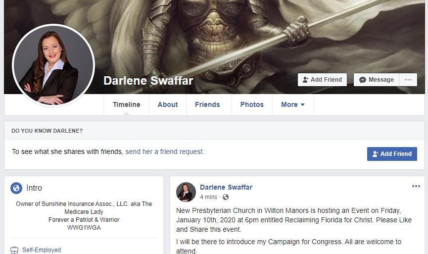 Darlene Swaffar Facebook page intro