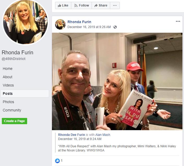 Rhonda Furin Facebook page1