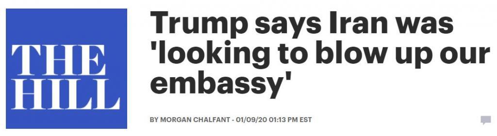 The Hill Soleimani Trump embassy