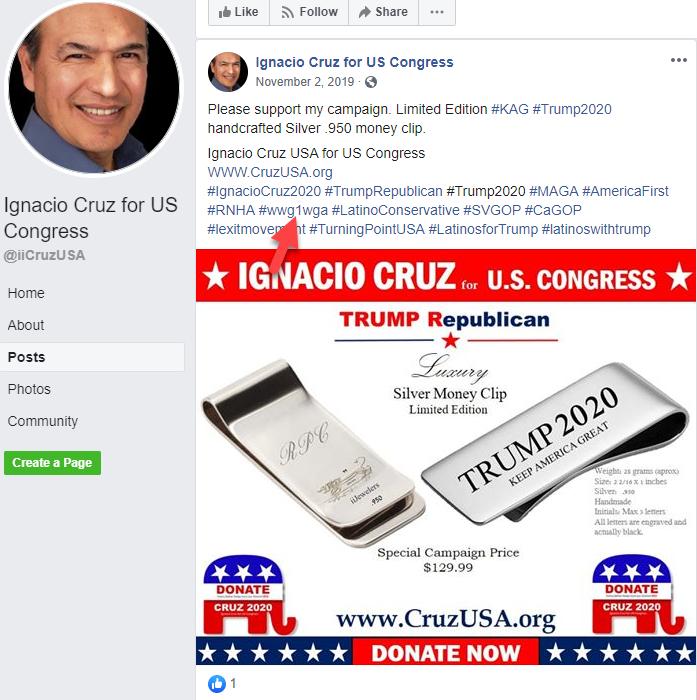 Ignacio Cruz Facebook campaign page QAnon3