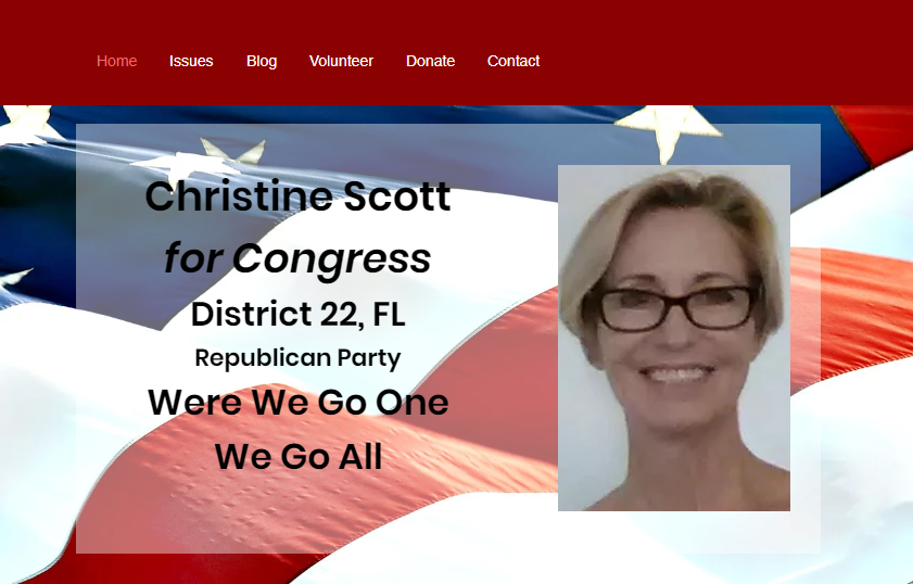 Christine Scott website QAnon