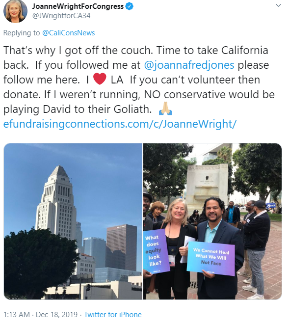 JoanneWrightForCongress Twitter