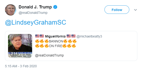 Trump February 3 QAnon retweet