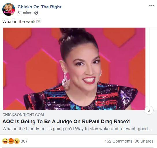 Chicks on the Right AOC Drag Race