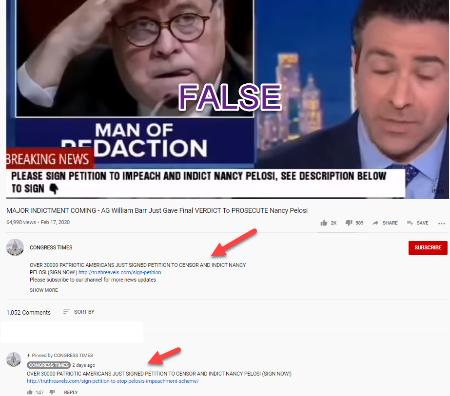 Congress Times YouTube clickbait site link