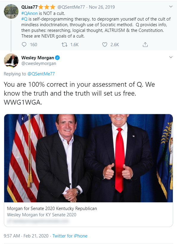 Wesley Morgan QAnon Twitter post1