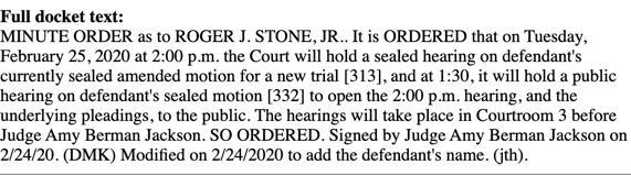 Jackson Feb 25 hearing