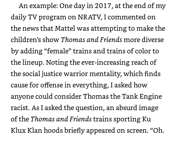 Loesch defends mocking Thomas the Tank Engine by using KKK hoods