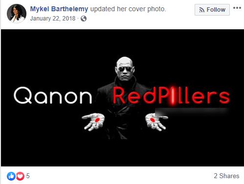 Mykel Barthelemy Facebook QAnon post1