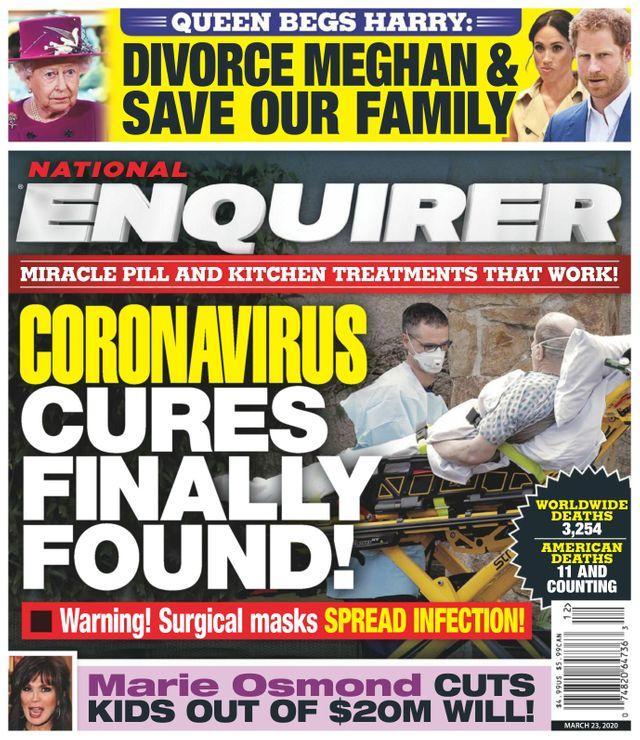 National Enquirer coronavirus cover
