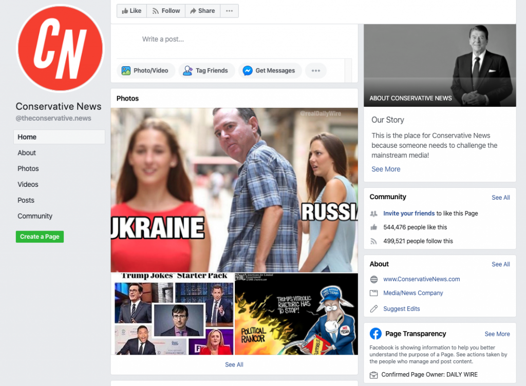 Conservative News Facebook page_as of 20200320