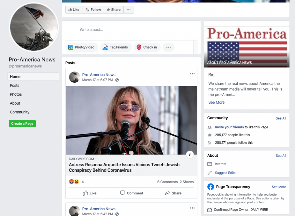 Pro-America News Facebook page_as of 20200320