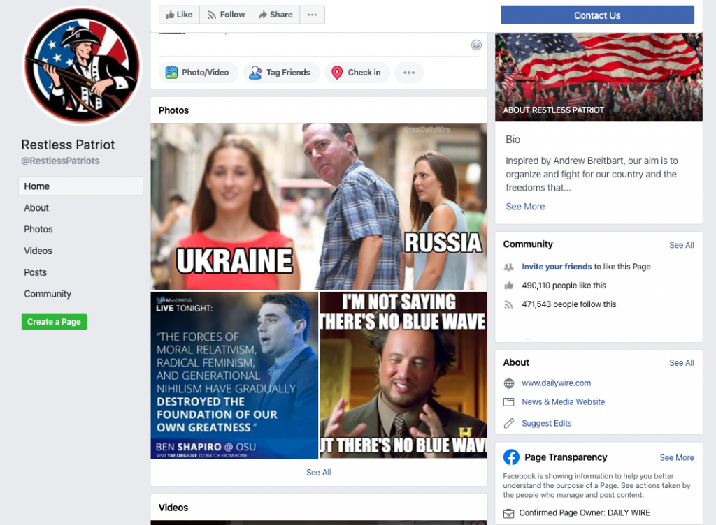 Restless Patriot Facebook page_as of 20200320