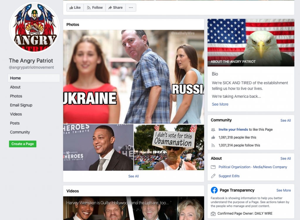 The Angry Patriots Facebook page_as of 20200320