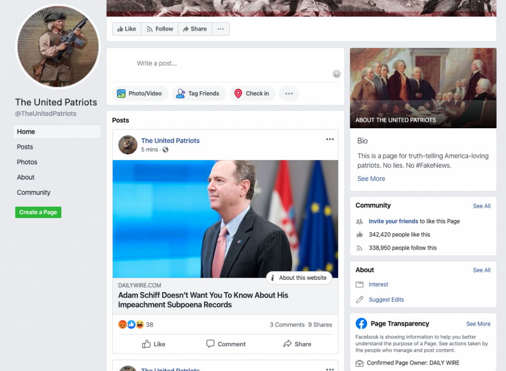 The United Patriots Facebook page_as of 20200320