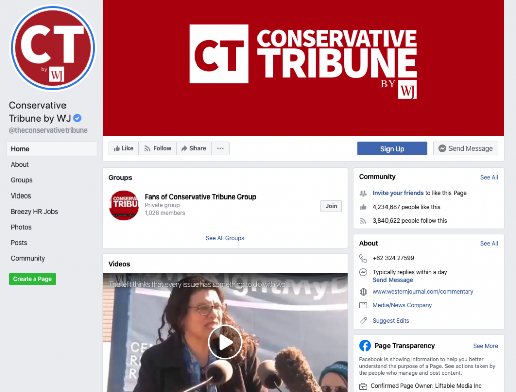 Conservative Tribune by WJ Facebook page_as of 20200322
