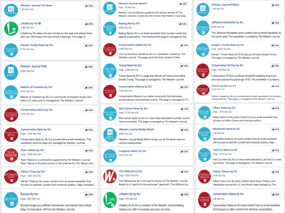 The Western Journal network of 30 additional Facebook pages_as of 20200322