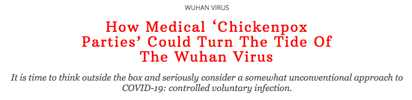 How Medical 'Chickenpox Parties' Could Turn The Tide Of The Wuhan Virus