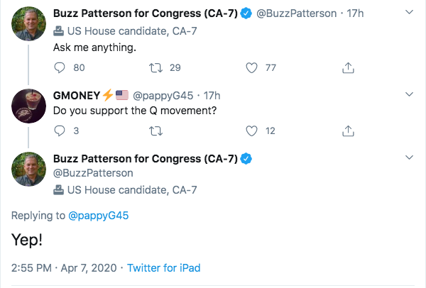Buzz Patterson QAnon Twitter