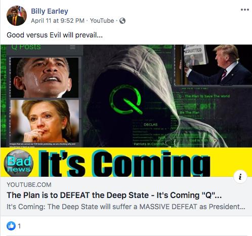 Billy Earley QAnon video1