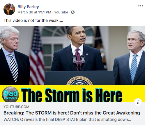 Billy Earley QAnon video2