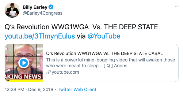 Billy Earley QAnon video3 Twitter