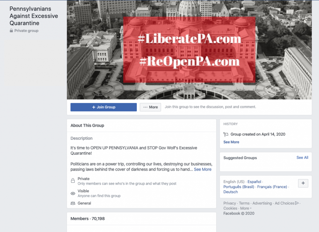 Image of group page