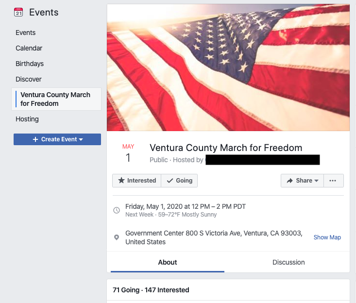 Image of event page