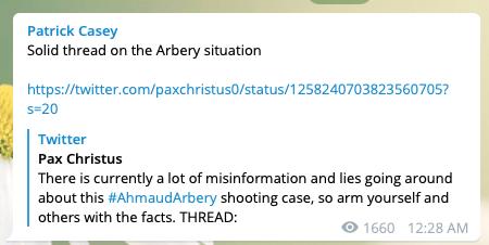 Patrick Casey on Telegram