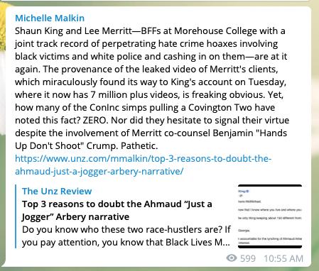 Michelle Malkin on Telegram
