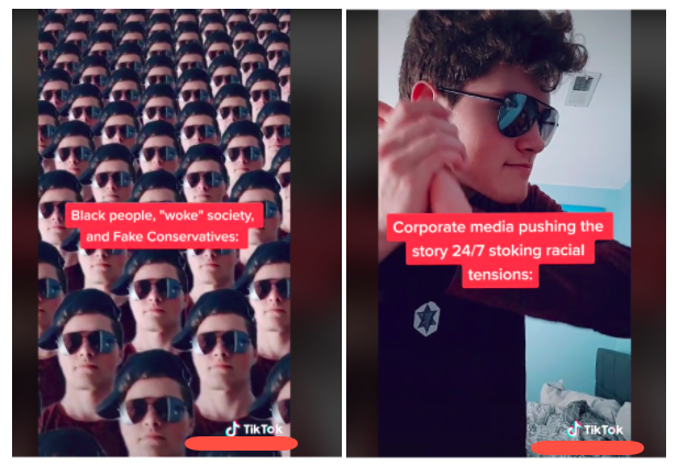 A disparaging TikTok mocking outrage over the killing of Ahmaud Arbery