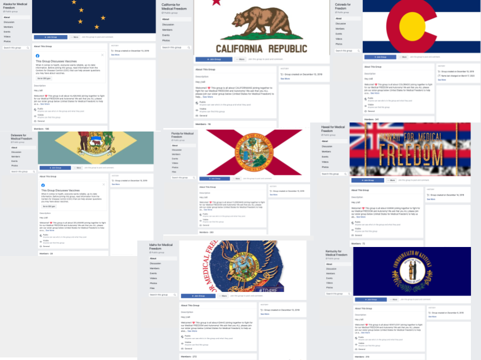 Image of 8 facebook groups