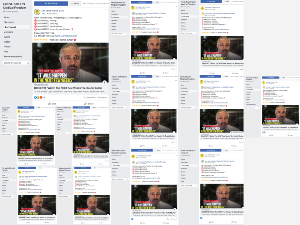 image of 12 identical posts