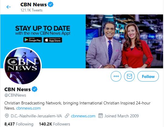 CBN News Twitter