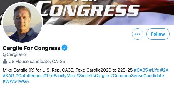 Mike Cargile Twitter profile