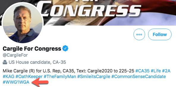 Mike Cargile QAnon profile image