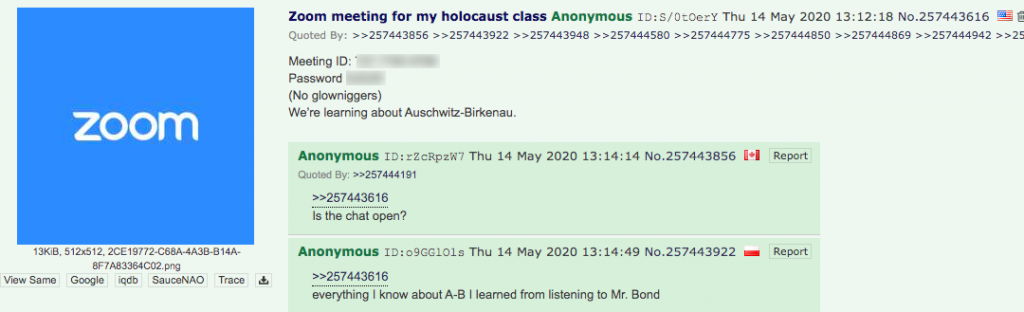 4chan Zoombombing7 post1