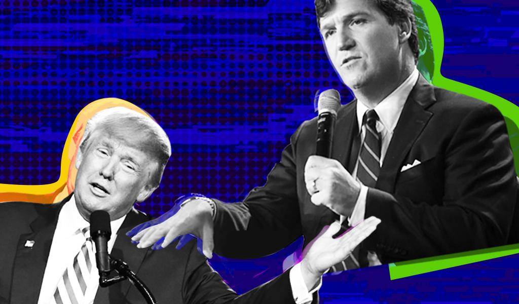 Tucker Carlson and Donald Trump