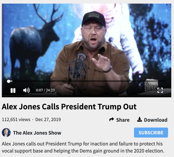 Jones against Trump 2