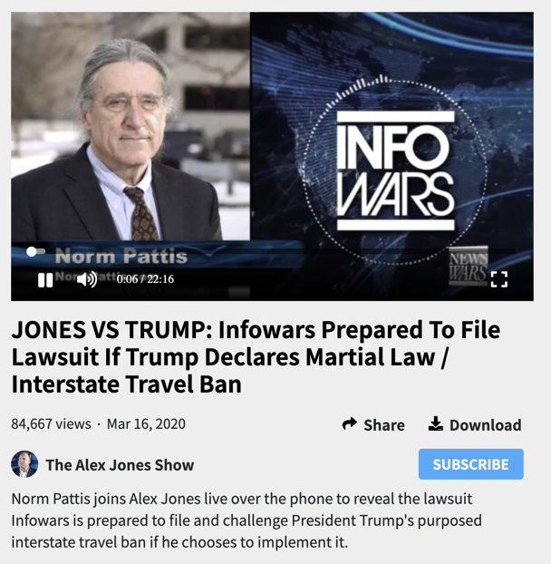 Jones against Trump 1