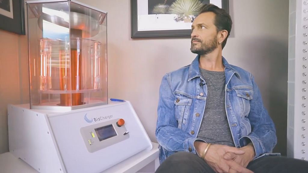 Luke Storey and a Biocharger