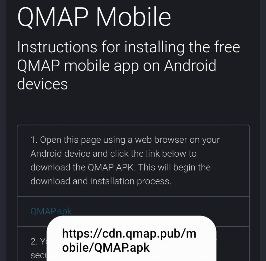 QMAP URL updated