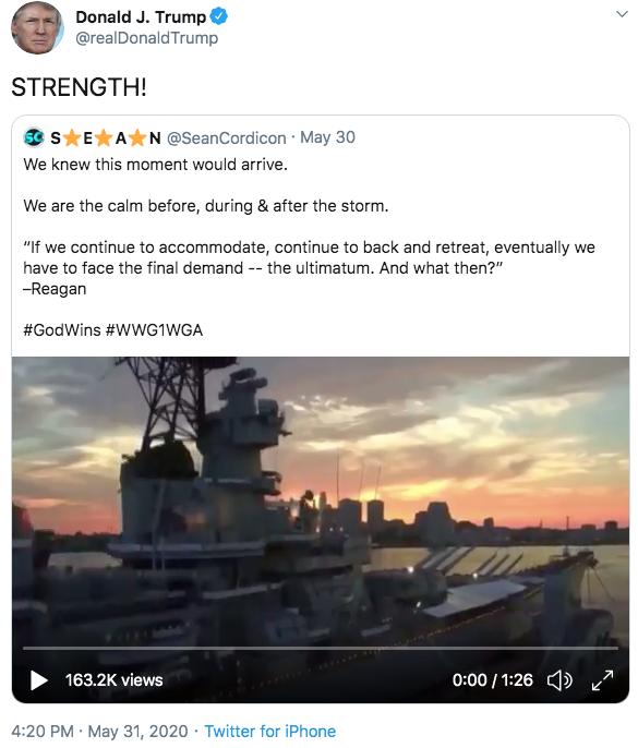 Trump Cordicon tweet