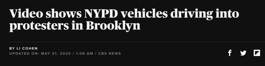 CBS passive headline on NYPD videos