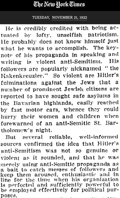 NYT 1922