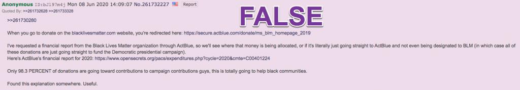 4chan ActBlue claim