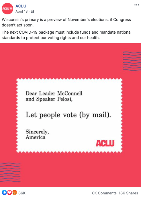 Image of ACLU's Facebook post from 20200413